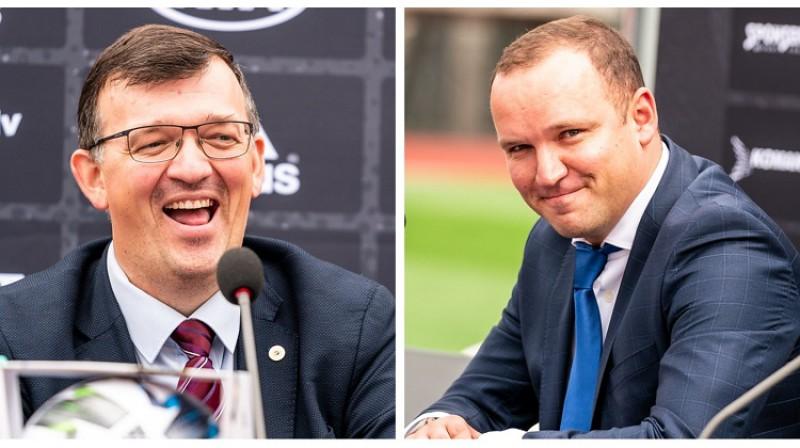 Dainis Kazakevičs un Vadims Ļašenko. Foto LFF.