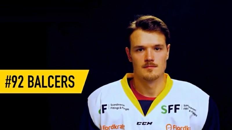 Rūdolfs Balcers. Foto: Stavanger Oilers