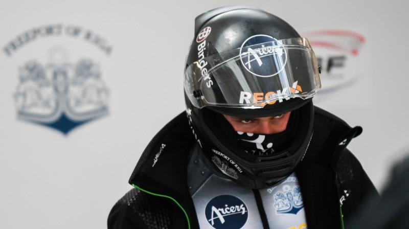 Dāvis Kaufmanis. Foto: Viesturs Lācis/bobslejs.lv