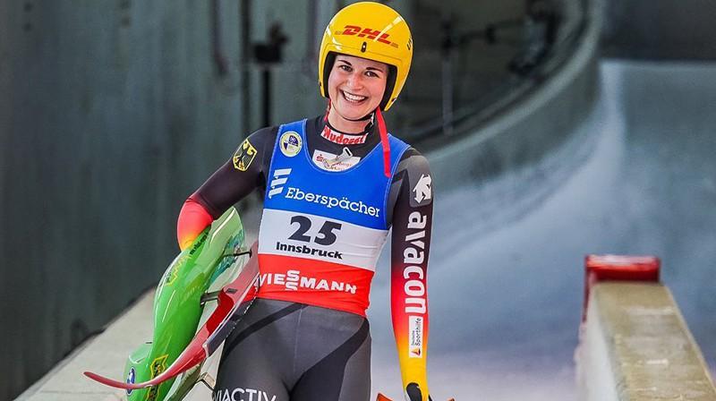 Uzvarētāja Jūlija Taubitsa. Foto: Mareks Gaļinovskis