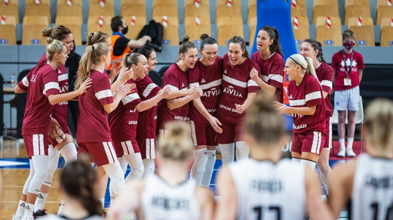 Latvijas sieviešu basketbola valstsvienība. Foto: basket.lv