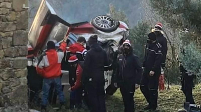 Ožjē avārija Montekarlo rallija testos. Foto: cceit.com