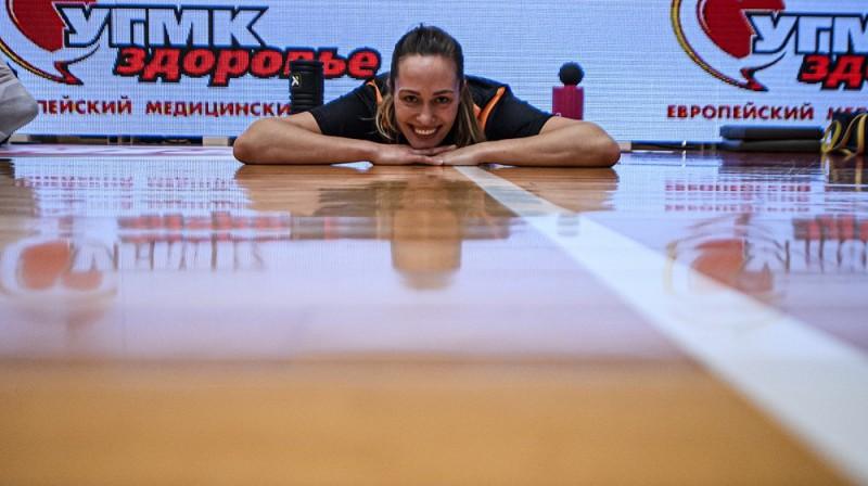 Karlīne Pilābere 2021. gada 21. janvārī. Foto: FIBA