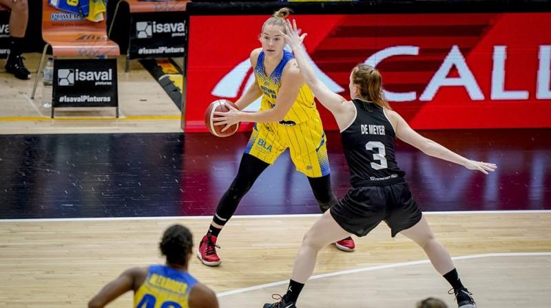 Kate Krēsliņa: 17 punkti Eiropas kausa spēlē. Foto: FIBA