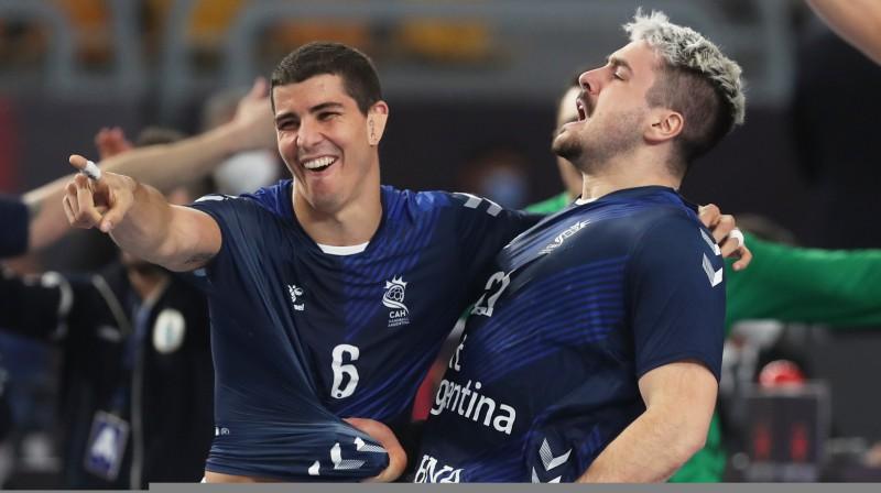 Argentīnas izlases handbolistu prieki. Foto: Reuters/Scanpix