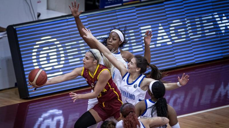 """Elīna Babkina un """"Nadežda"""": otrā uzvara pār Kurskas """"Dynamo"""". Foto: FIBA"""