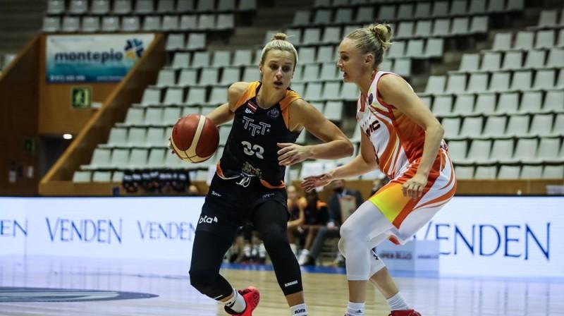 """Kitija Laksa: 10 punkti trešajā ceturtdaļā pret """"Kibirkštis MRU"""". Foto: FIBA"""