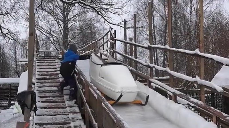 Rūjienas bobsleja trase. Foto: ReTV