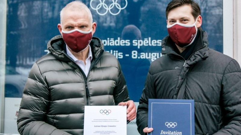 Žoržs Tikmers un Kārlis Lejnieks. Foto: Latvijas Olimpiskā komiteja