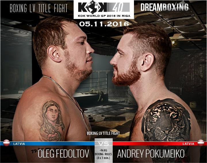 Fedotovs ar Pokumeiko dalīs Latvijas čempiona titulu boksā