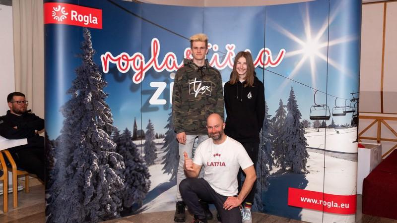 Snovbordistei Ozolai 35. vieta pasaules junioru čempionātā