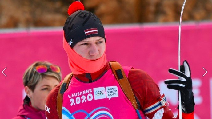 Talantīgā Ģērmane nefinišē jaunatnes olimpisko spēļu milzu slalomā