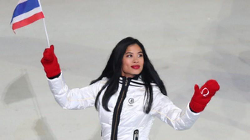 Vanesa Meja Vanakorna olimpisko spēļu atklāšanā  Foto: PA Wire / Scanpix