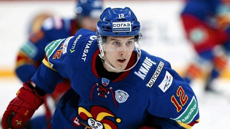 """Amerikāņu uzbrucējs no Helsinku """"Jokerit"""" Stīvs Mozess ir viens no spilgtākajiem šīs ezonas atklājumiem KHL."""