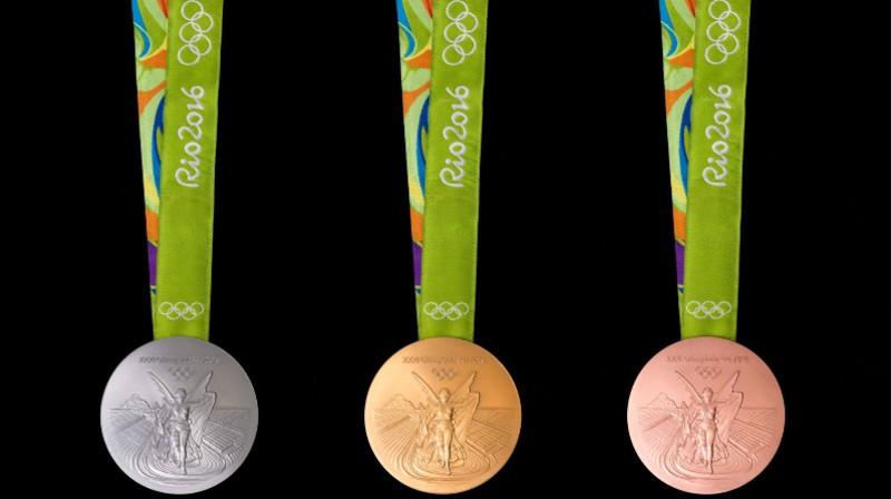 Rio olimpiādes medaļas Foto: Alex Fero / rio2016.com