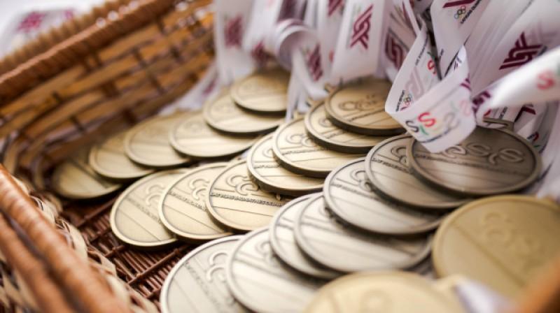 Latvijas Jaunatnes olimpiādes medaļas Foto: cesis2017.olimpiade.lv