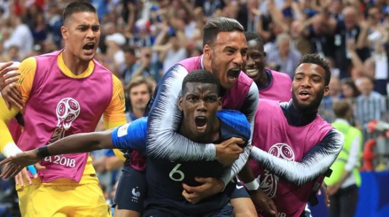 Viens no pasaules čempiones Francijas līderiem Pols Pogbā. Foto: EMPICS Sport/Scanpix