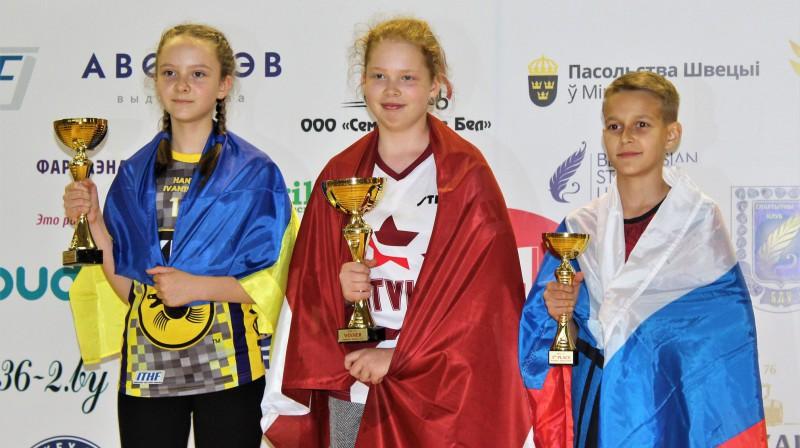 Pasaules čempione U-13 galda hokejā - Krista Annija Lagzdiņa