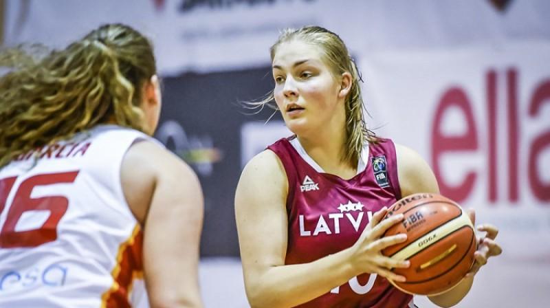 Laura Meldere: 96 spēles jaunatnes izlasēs. Foto: FIBA