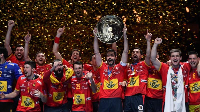 Spānija - 2020. gada Eiropas čempione handbolā. Foto: AFP / Scanpix