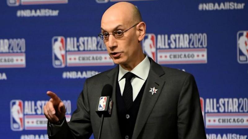 NBA komisārs Edams Silvers. Foto: AFP/Scanpix