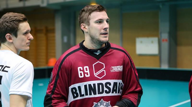 Jānis Salcevičs. Foto: Floorball.lv