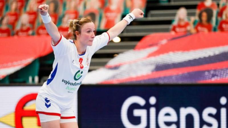 Viena no galvenajām Serbijas un Nīderlandes spēles varonēm Katarina Krpeža-Šlezaka.