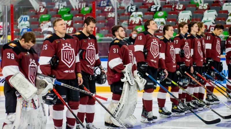 Rīgas ''Dinamo'' hokejisti. Foto: Kaspars Volonts/dinamoriga.lv