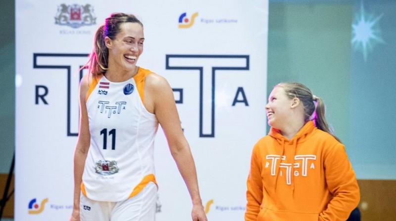 Karlīne Pilābere: seškārtēja Latvijas čempione basketbolā. Foto: TTT Rīga