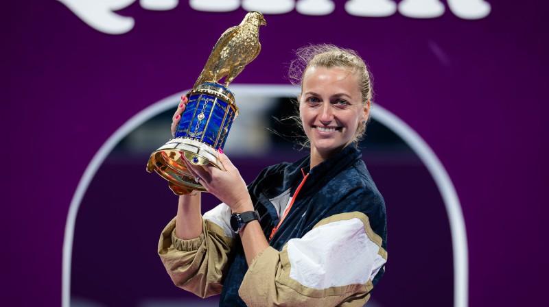 Petra Kvitova – divkārtēja Dohas čempione. Foto: AFP/Scanpix