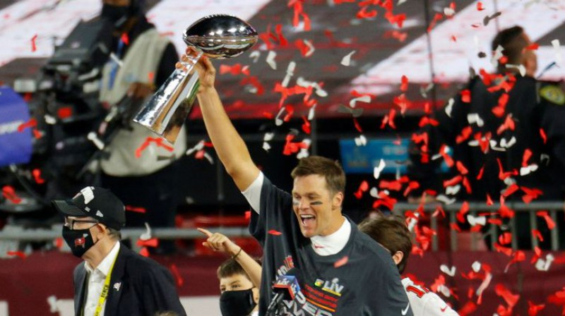NFL čempions Toms Breidijs. Foto: USA Today Sports/Scanpix