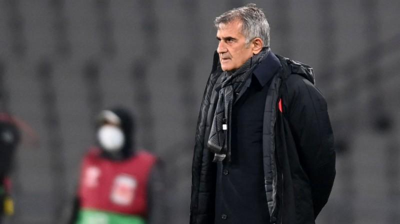 Turcijas futbola izlases galvenais treneris Šenols Ginešs. Foto: AFP/Scanpix
