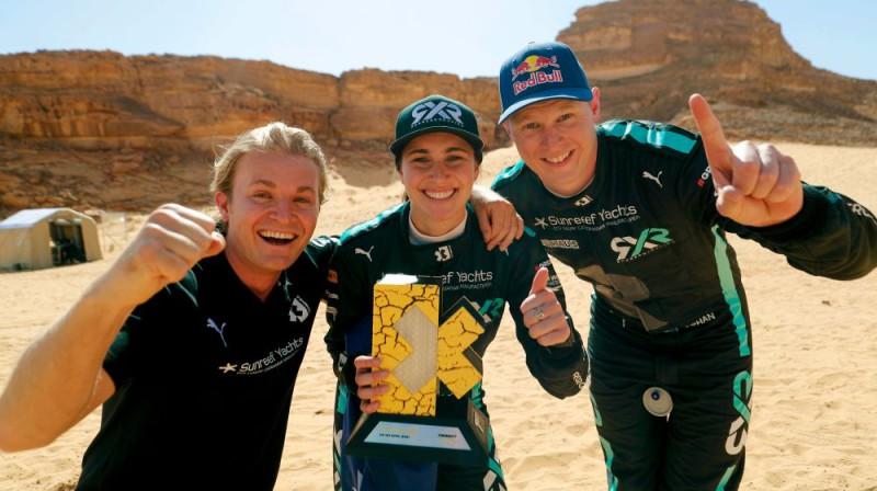 Niko Rosbergs, Mollija Teilore un Johans Kristofersons