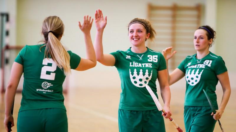 Elīza Elizabete Bērziņa (#35). Foto: Ritvars Raits, floorball.lv