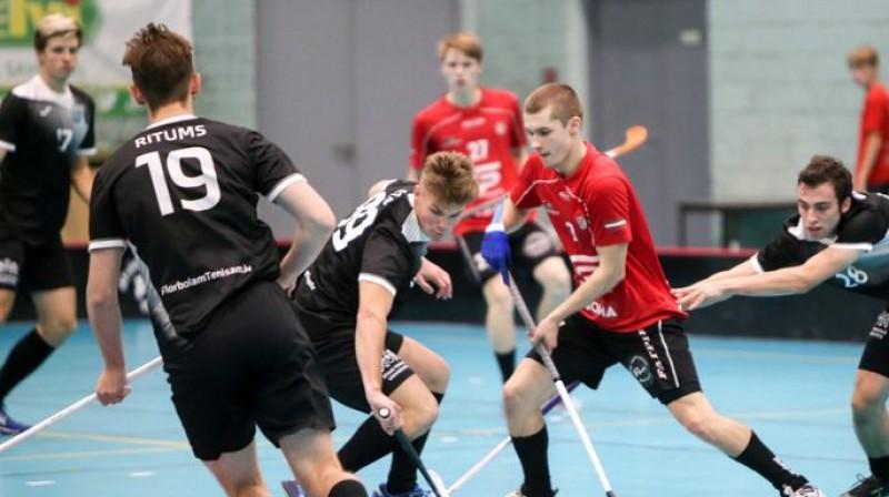 """Lielvārde/FatPipe"" pret ""RTU/Rockets"" Foto: Floorball.lv"