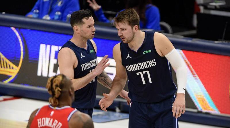 Džejdžejs Rediks un Luka Dončičs. Foto: USA Sports Today