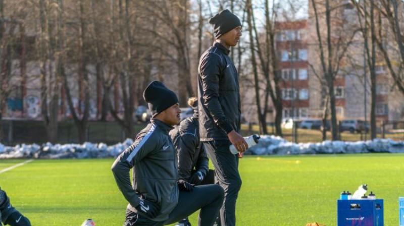 """""""Noah"""" spēlētāji marta sākumā - vai viņi vispār vēl ir komandā? Foto: FC Noah"""