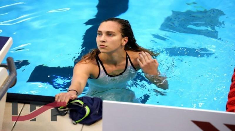 Arina SIsojeva. Foto: Latvijas peldēšanas federācija.