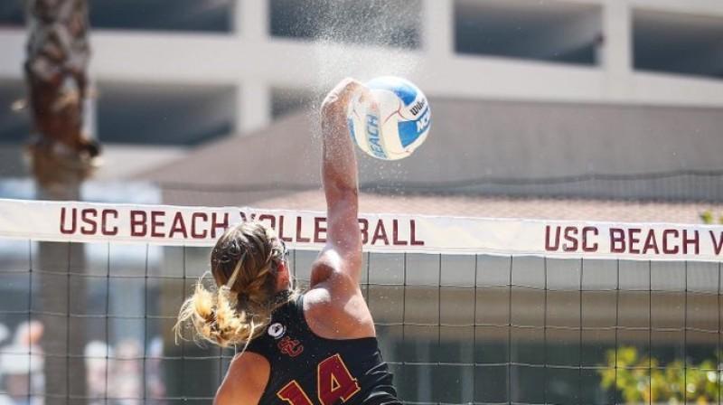 Tīna Graudiņa. Foto: USC Beach Volleyball
