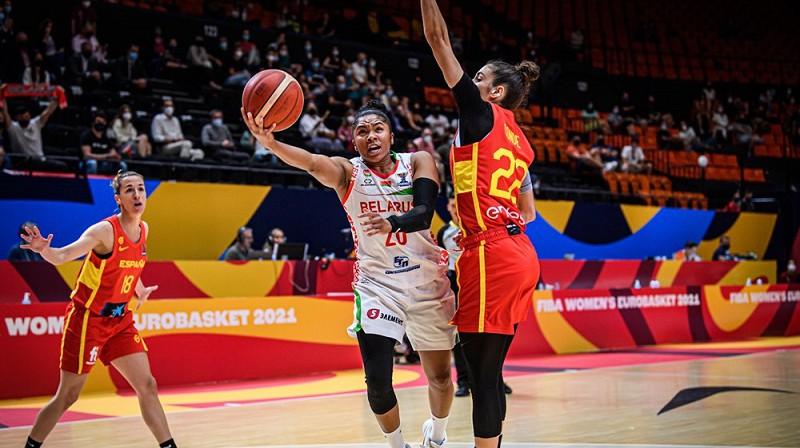 Aleksa Bentlija: uzvaras metiens pret Spāniju. Foto: FIBA