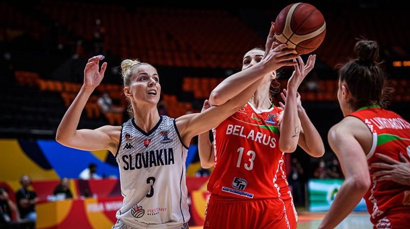 Ivana Jakubcova un Slovākija: uzvara pār Baltkrieviju. Foto: FIBA