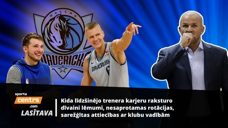 Luka Dončičs, Kristaps Porziņģis un Džeisons Kids. Foto: dallasnews.com / AP / Scanpix