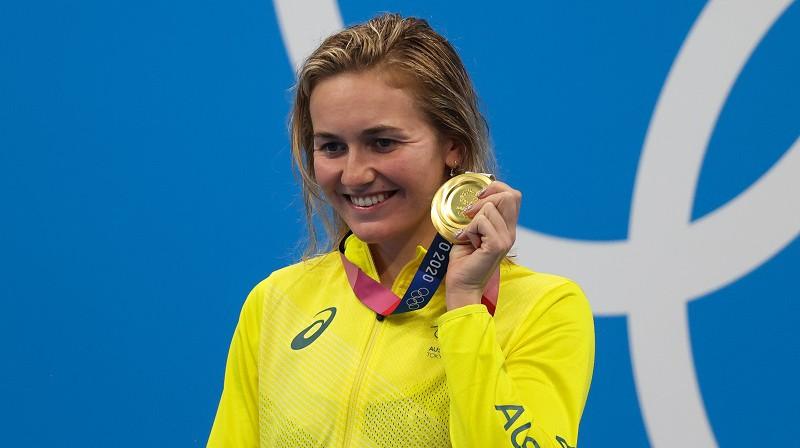 Eriarne Titmusa: olimpiskā čempione 400 metru peldējumā brīvajā stilā. Foto: TASS/Scanpix