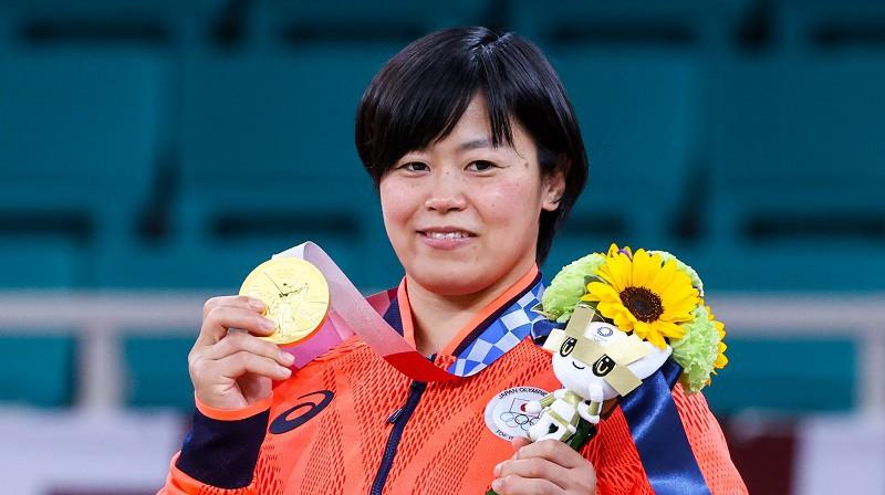 Šori Hamada uzvarēja džudo sacensībās sievietēm svara kategorijā līdz 78 kilogramiem. Foto: TASS/Scanpix