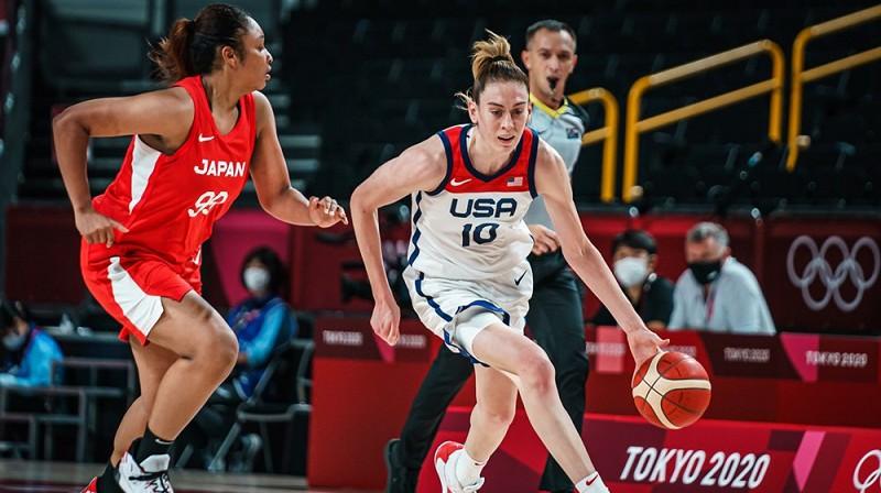Breana Stjuarte 2021. gada 30. jūlijā. Foto: FIBA