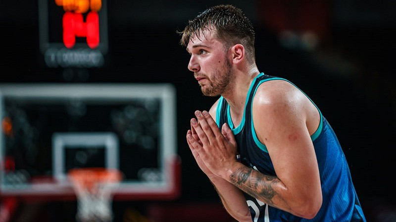Luka Dončičs: 15-0 bilance ar Slovēnijas valstsvienību. Foto: FIBA