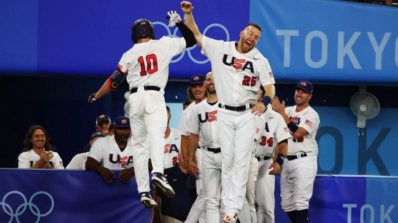 ASV izlases beisbolisti. Foto: Jorge Silva/Reuters/Scanpix