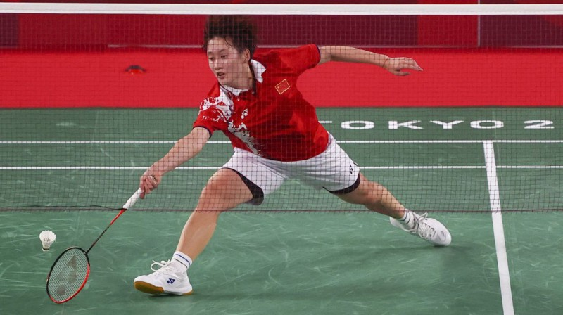 Ķīnas badmintoniste Jufeja Čena. Foto: Reuters/Scanpix