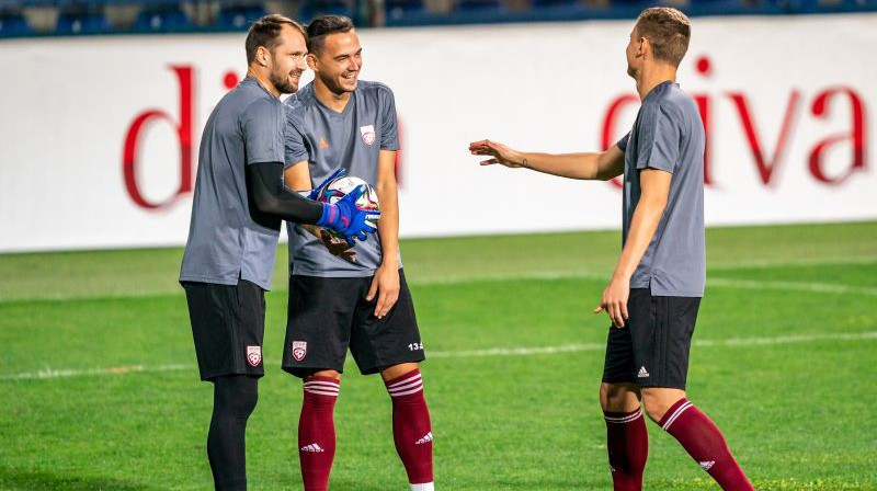 Pāvels Šteinbors un Igors Tarasovs. Foto: Sanita Sparāne/LFF