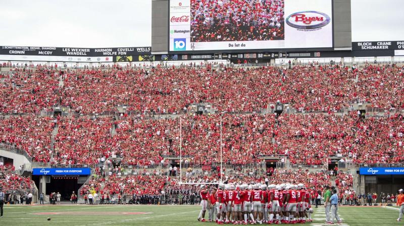 Ohaio štata universitātes stadions mačā pret Oregonu, Foto:AFP/Scanpix